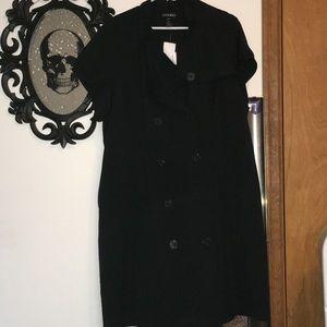 Fashion Bug Black Button Up Dress